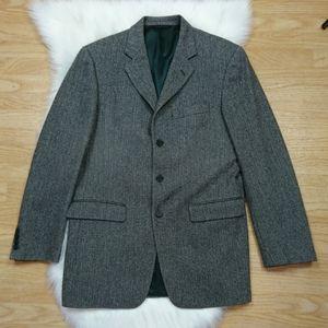 Burberry London Gray Herringbone Sports Coat